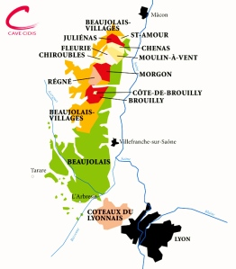 Map of the crus